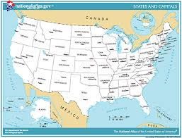 united states map states and capitals names map of america with names of states poster map of united states of