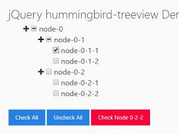 collapsible tree view with checkboxes jquery hummingbird