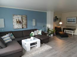 Blue Livingroom Livingroom Blue Wall Grey Flooring Livingroom Ideas