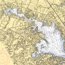 Maryland rivers images Severna park md severn river nautical chart decor jpg