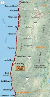 map of oregon 2 pacific coast adventure cycling route network adventure