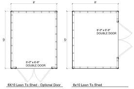 floor plans for sheds 8x10 lean to shed plans storage shed plans icreatables com