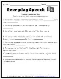 vocabulary and context clues everyday speech everyday speech