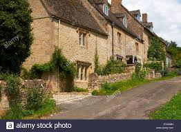 The Cotswolds Cottages by Cotswold Stone Cottages In Great Rissington In The Cotswolds Stock