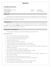 Maintenance Resume Objective Aviation Resume Examples