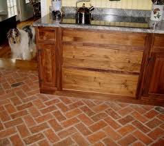 tile floors brick veneer flooring island furniture with seating
