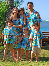 Tropical Themed Clothes - hibiscus hawaiian islands a matching tropical print family