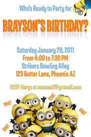 Invitation Cards Party 226 Best Minion Birthday Images On Pinterest Minion Party