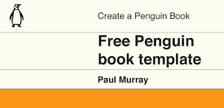 free penguin book cover template for adobe illustrator and photoshop