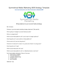 social media marketing strategy template by symmetrical media marketi u2026