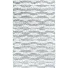 mercury row lada abstract waves gray white area rug u0026 reviews