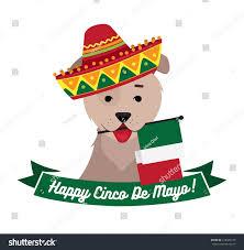 Cartoon Mexican Flag Dog Sambrero Holding Mexican Flag Mouth Stock Vector 618428189