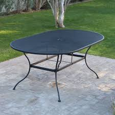 Wrought Iron Patio Tables Belham Living Stanton 42 X 72 In Oval Wrought Iron Patio Dining