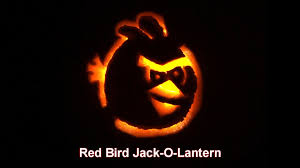 angry birds jack o lantern how to video red bird pumpkin push
