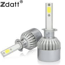 car led lights for sale sale zdatt 2pcs super bright h1 led bulb 80w 8000lm headlights car