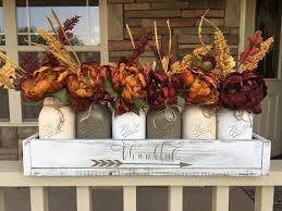 shabby chic handmade fall mason jar decor ideas for the home