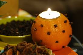 make it orange and clove candle holders