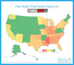 Nba Map Here U0027s Which Video Game Each State At The Most Decluttr Blog