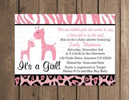 Cheap Baby Shower Invitation Cards Design Giraffe Baby Shower Invitations