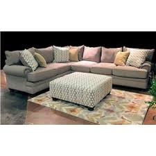Albany  Traditional Stationary Sofa With Oversize Rolled Arms - Furniture jackson ms