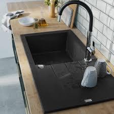 mitigeur evier cuisine castorama évier à encastrer 1 cuve noir calci castorama deco