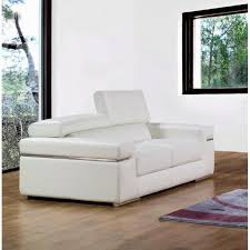 canapé cuir blanc design canapé 2 places en cuir blanc design achat vente canapé sofa