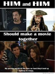 Movie Meme - robert downey jr and johnny depp should make a movie together
