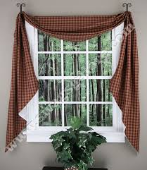 Primitive Swag Curtains Lined Swag Curtains 100 Images Black Check Scalloped Lined