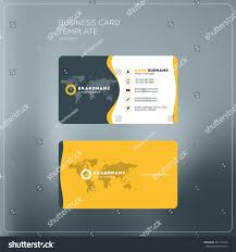 business card print template company logo stock vector 451105126
