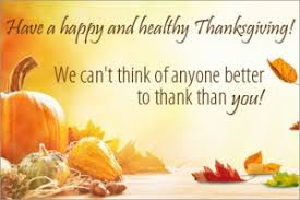 happy thanksgiving from vitacost