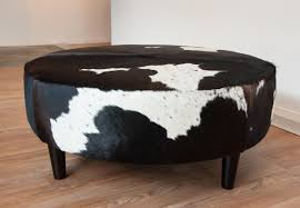 Who Are Ottomans A Fantastic Chocolate Brown And White Cowhide Ottoman By