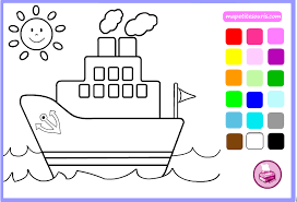 Swan Boat Amusement Park Coloring Pages Kids Ddh Printable