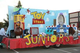handmade toy story homecoming float from last year crafts