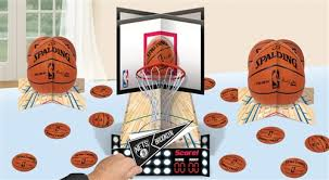 basketball party supplies spalding basketball customizable table decorating kit sports