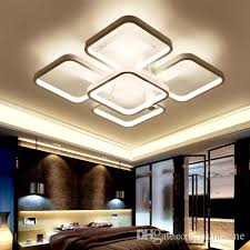 dimmable led ceiling lights 2018 dimmable led ceiling lights post modern elegant square shape