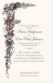 purple wedding programs purple tropical flowers and orchid cascade church wedding program
