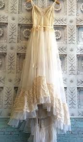 cream ivory u0026 blush lace chiffon crochet asymmetrical hem boho