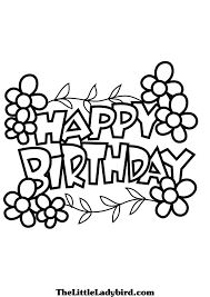 happy birthday coloring pages coloringeast