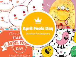 april fools day graphics for designers 3d objects illustrations