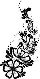 simple flower designs black and white collection 78