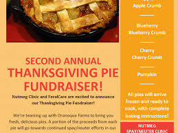 pies fundraiser for nutmeg clinic milford ct patch