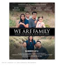 we are family movie poster template