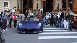 gemballa mirage start up revs u0026 driving gemballa mirage gt sound in monaco