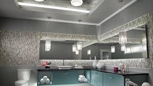 Flush Bathroom Light Impressive Flush Mount Bathroom Light Mirror Lighting Fixture