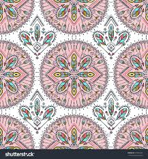 vector seamless pattern ethnic arrows feathers stock vector