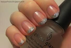 lacquer buzz silver glitter tips