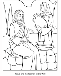woman at the well coloring pages funycoloring