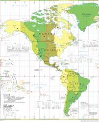 America North And South Map by America Time Zones U2022 Mapsof Net