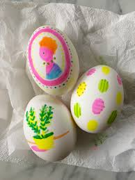 simple highlighter pen decorated easter eggs u2014 super make it