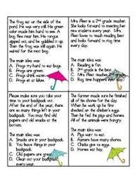 main idea 4th and 5th grade main idea activities main idea and